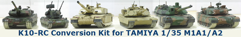 K10-RC Conversion Kit for TAMIYA 1/35 M1A1/A2