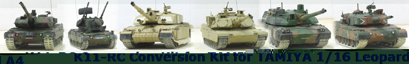 K11-RC Conversion Kit for TAMIYA 1/16 Leopard A4