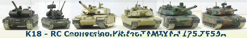 K18 - RC Conversion Kit for TAMIYA 1/35 T55A