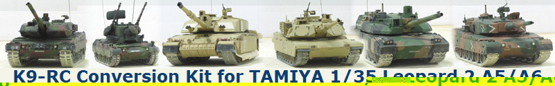 K9-RC Conversion Kit for TAMIYA 1/35 Leopard 2 A5/A6