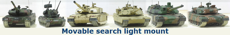 Movable search light mount